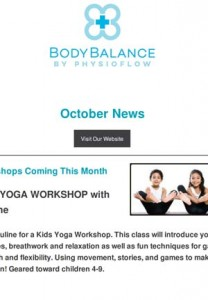 Body Balance October Newsletter